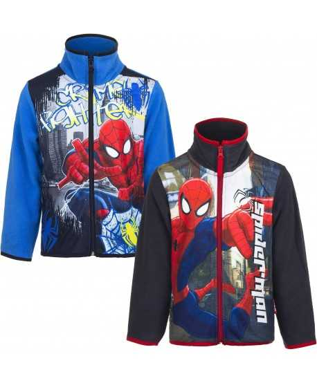 Gilet polaire Spiderman du 3 au 8 ans