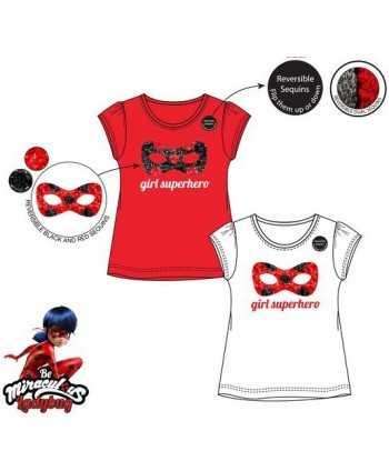 T-shirt Miraculous Ladybug sequin réversible 4-8 ans Miraculous - 1