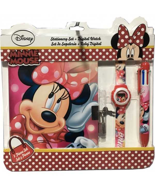 Set montre, agenda et stylo Minnie Minnie - 1