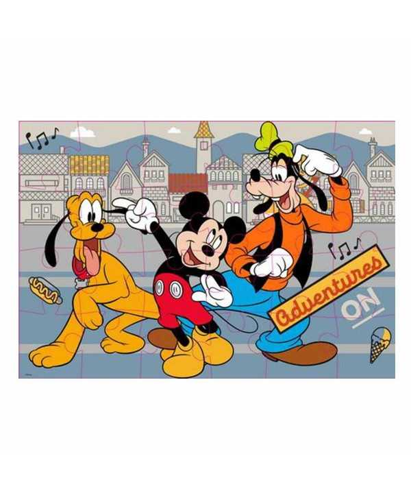 Puzzle à colorier 24 pièces double face Mickey Mickey - 3