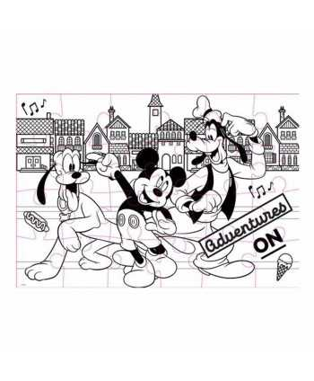 Puzzle à colorier 24 pièces double face Mickey Mickey - 2