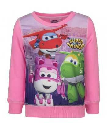 Sweat Super Wings rose du 3 au 6 ans  - 1