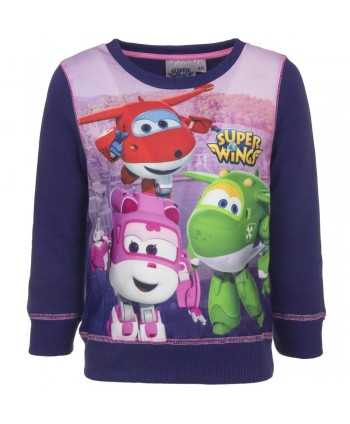 Sweat Super Wings mauve du 3 au 6 ans  - 1