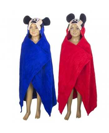 Plaid polaire Mickey avec capuche 3D Mickey - 1