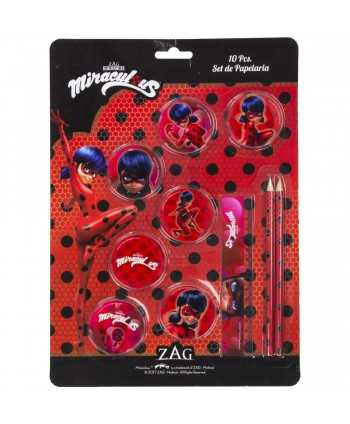 Set papeterie 10 pieces Miraculous Ladybug Miraculous - 1